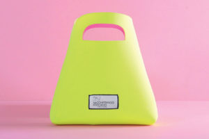 shopper in neoprene gialla e rosa
